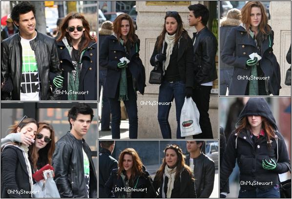 ● FlashBack : Kristen accompagner de ses meilleurs amis, Nikki & Tay, étaient à Vancouver le 08/03/2009 ! J'aime leurs tenues à tous les trois : Simple & Classe. La coiffure de K était magnifique, J'aime beaucoup ! ♥