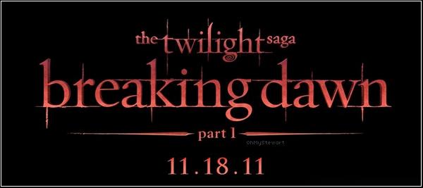 """● Breaking Dawn : Découvrons enfin le premier Logo du 4è me tome de la saga"""" Twilight """" Le logo est très jolie. Il est simple, rouge & noir mais j'aime bien ! Donne moi ton avis sur ce logo ! ♥ :)"""