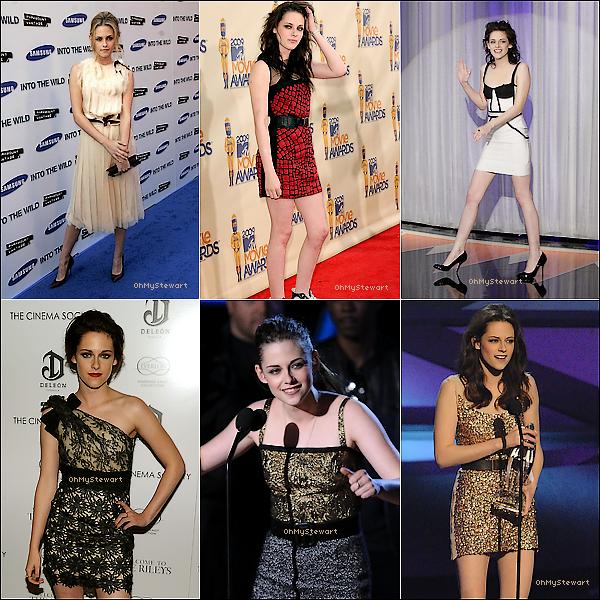 ● Divers : Kristen nous en a fait des TOP de coiffures & de tenues !    Sur ces 6 TOPS, Kristen était vraiment sublime. Tu aimes toi ? Laquelle est ta préférée ?