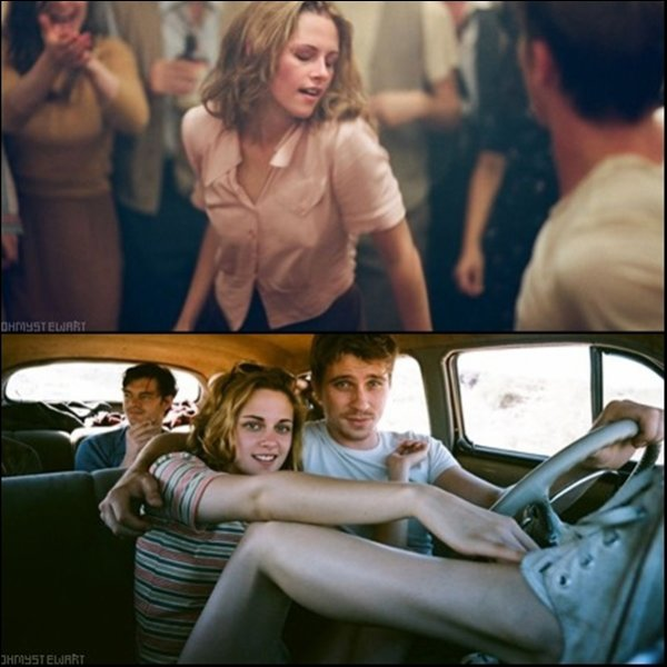 "Voici quelques stills du prochain film de Kristen, ""On the road"", une photo du tournage + le premier poster officiel."