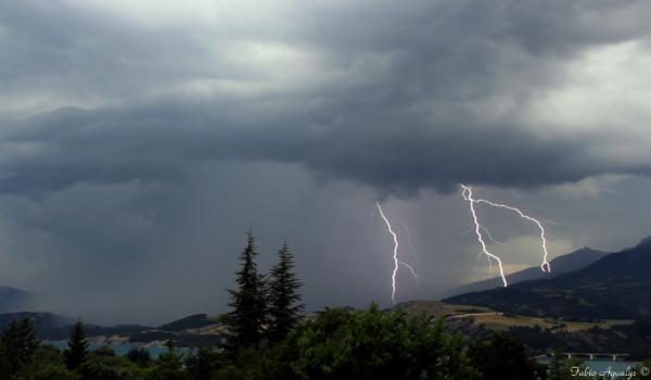 Orage dans les Hautes Alpes,  9 juillet 2013