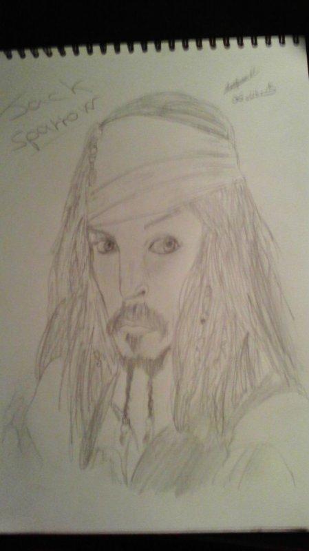 mon dessin de jack sparrow
