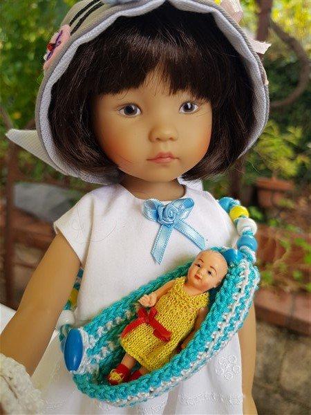 Little Darling moule 2 avec son bebe miniature