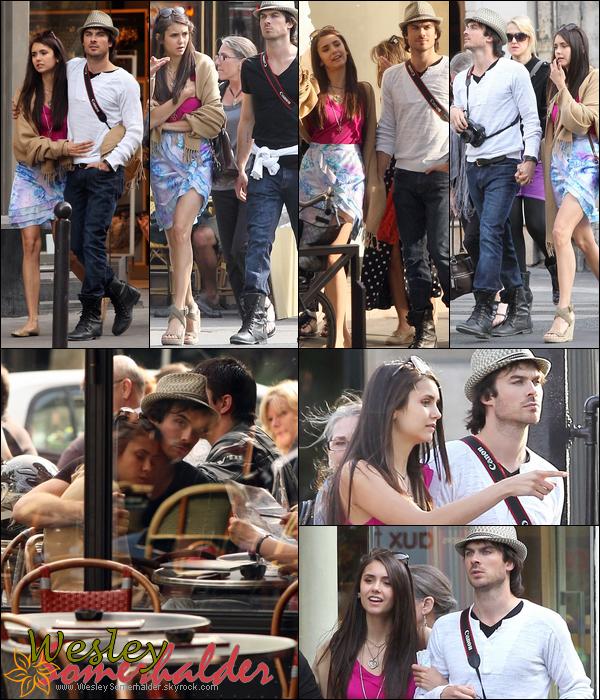 25 Mais 2011 ♦ Ian Somerhalder & Nina Dobrev se promenant dans notre capital : PARIS Remarque : So Mignon il n'y a plus de doute a avoir sur leur relation ! Nian it's Officiel !