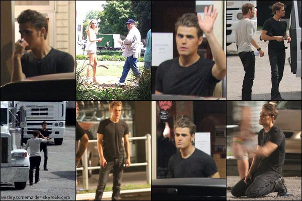 21 Juillet 2011 - Paul Wesley dans le personnage de Stefan sur le plateau de The Vampire Diaries Saison 3