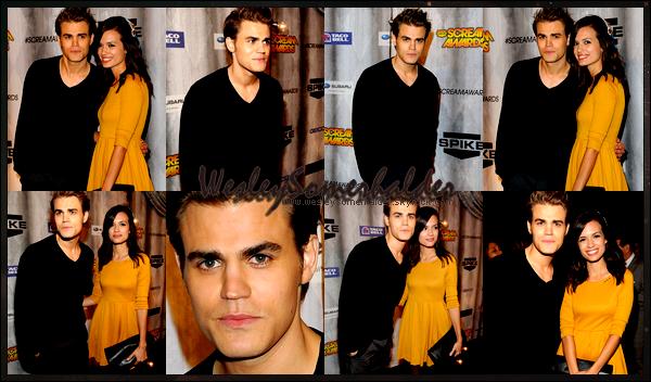 ▬▬▬▬▬▬▬▬▬▬▬▬▬▬▬▬▬▬▬▬▬▬▬▬▬▬▬▬▬▬▬▬▬▬▬▬▬▬▬ Paul Apparence ▬▬▬ ● Paul s'est rendu a l'événement « Scream Awards » pour récompenser des nombreux awards. Il etait accompagner de sa femme Torey ●