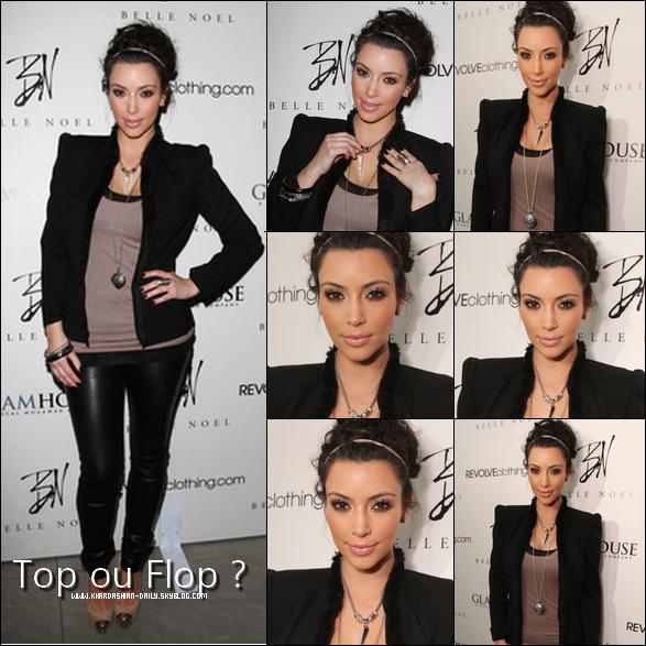 - 03/02/11__Kim était présente au lancement officiel de sa nouvelle collection de bijoux Belle Noel Côté tenue c'est un TOP encore & encore , simple et recherché le duo qui fait fureur .  -