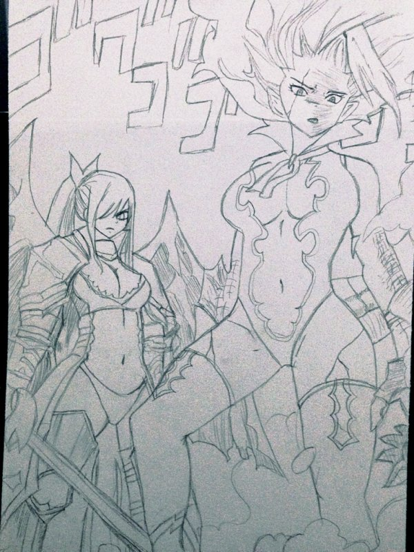Mirajane / Erza - Fairy Tail