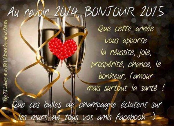Bonne et heureuse année 2015 !!!