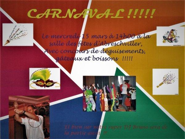 Carnaval des enfants à Abreschviller !!!