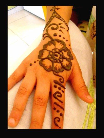 Quelques modèles de henna