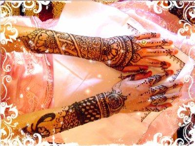 Quelques modèles de henné ...