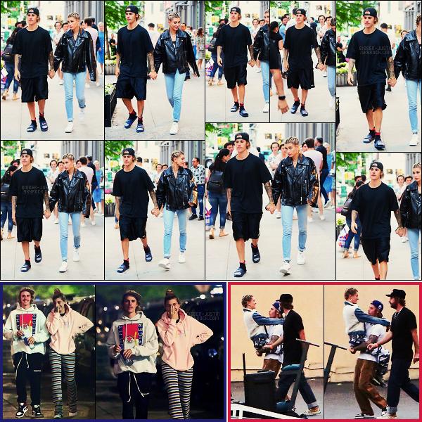 21/06/18 - Le couple Justin Bieber et Hailey Baldwin vu quittant le Cipriani situé dans Manhattan, - NY.Le 20/06, Jailey était dans les rues de la ville de New York. On les avait vu aussi le 19/06 lors d'un tournage de clip pour notre Justin ! Trop mignons.