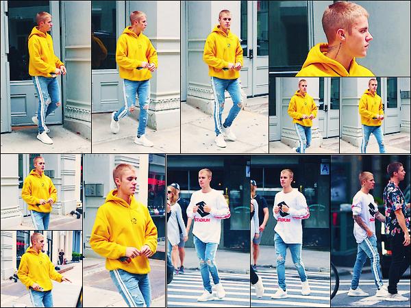 • 27 mai2017 ||Notre Justin Bieber à été vu quittant le spa «Aire Ancient Baths» toujours à New-YorkCity. C'est accompagner par le mannequin masculin Patrick Schwarsenegger que Justin à été aperçue. Côté tenue un top . •