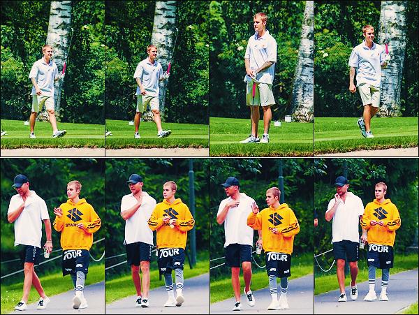 • 12 juin2017 ||Notre chanteur canadien Justin Bieber à été aperçue accompagner puis jouant au golf en Suisse. Le 15, il à été aperçue arrivant à Bern dans le cadre du Purpose Tour Staduim. Concernant les tenues, j'accord un flop. •