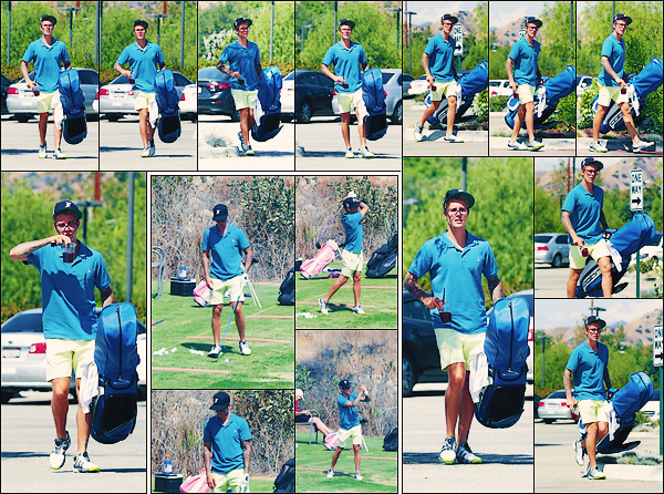 • 10 septembre 2017 || Justin  à été photographié au « Angeles National Golf Club » à Sunland-Tujunga. L'interprête canadien de « what do you mean » de 23 ans ce mets donc a un nouveau sport qu'est le golf. Un petit top pour sa tenue.•