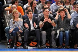 Spotted! Ed Westwick – 23 Novembre – The Charlotte Bobcats vs New York Knicks