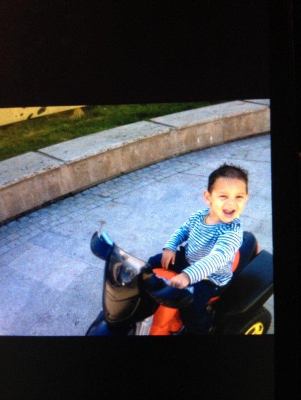 Mon fils en moto