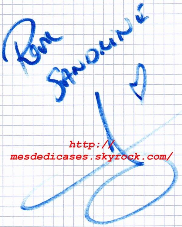 Autographe d'Antonin