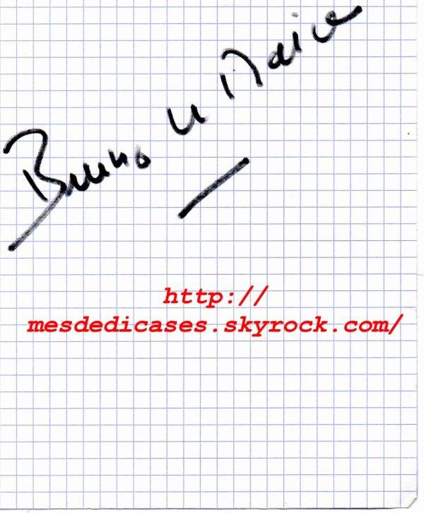 Autographe de Bruno Le Maire