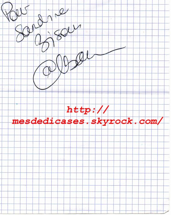 Autographe d'Alban Bartoli