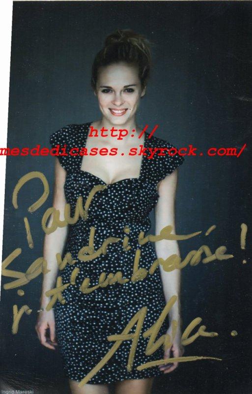 Autographe d'Alice Raucoules
