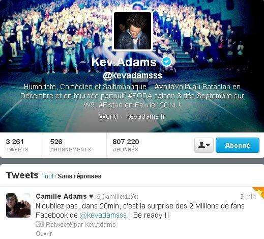 News Kev : 2 Millions de fans sur facebook !