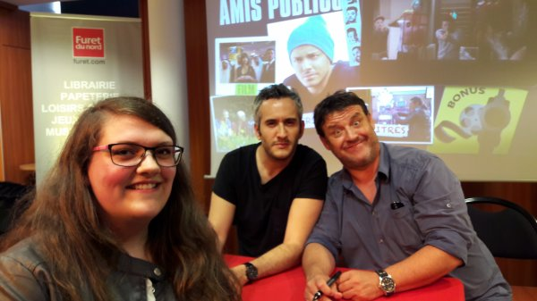 Kev Adams, John Eledjam et Guy Lecluyse, Lille le 25 juin 2016