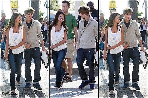 .06//02/11 : Sel' et Justin  traîne a Santa Monica ,en Californie. .