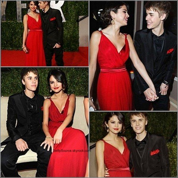 .28 février 2011  : Selena et Justin Bieber est aux « 2011 Vanity Fair Oscar Party ».Elle y posait aussi avec Taylor Swift   .