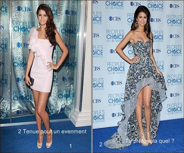 . 05.01.2011 : Selena était au  « People Choice Award » .