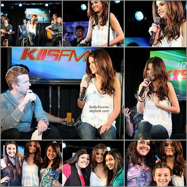 .21.04.2011 : Sel' etait a la station de radio  «KIIS FM » .