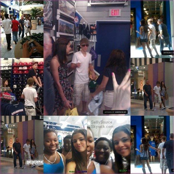 .28.05.2011 : S. et J. ont quitté Hawai et on était vu eu Texas dans un parc d'attractions « Six Flags ».29.05.2011 : Puis , le lendemain , S. et J. on fait du shopping..Découvre 4 nouvelle photo poste sur le twitter de S. et de J. au Texas.  .