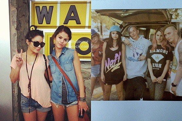 """.Découvre 2 nouvelles photo personnel, de Selena avec Vanessa Hudgens et sur le set de """"Spring Brekars""""."""
