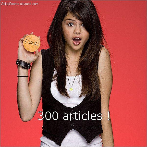 .Le blog à atteint la barre des 300 articles !.