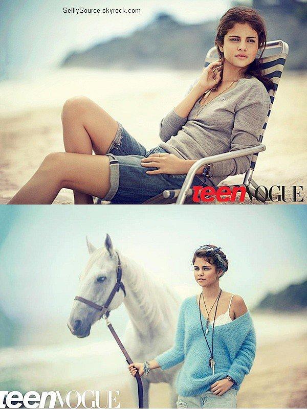 .Découvre un shoot de Selena pour le magazine de «Teen Vogue». .