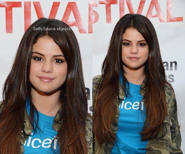 .29.09.2012: Selena s'es rendu à New York, pour les«Global Citizen Festival». .