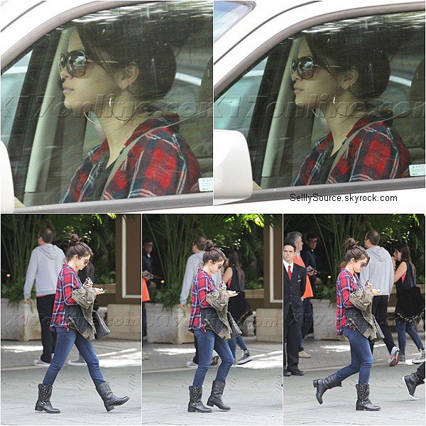 .18.11.2012 : Selena a été vu entrain de quittée l'hôtel Four Seasons,en Californie. .