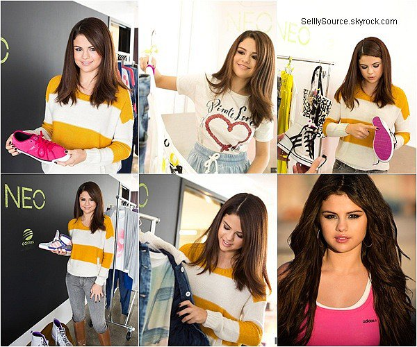 .20.11.2012 : Selena à réalisé un photocall pour Adidas Neo,dont elle es l'égérie..