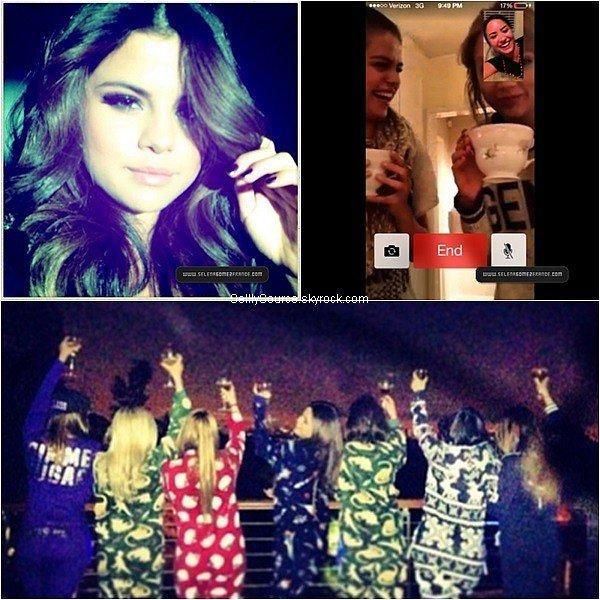 . Selena à récemment ajouté plusieurs photos sur son compte Instagram fêtant la nouvelle année avec quelques amis. Elle à fait un FaceTime,avec Taylor Swift. et Demi Lovato.