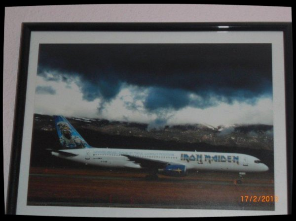 Iron Maiden, ED Force One. C'est une vrai photo