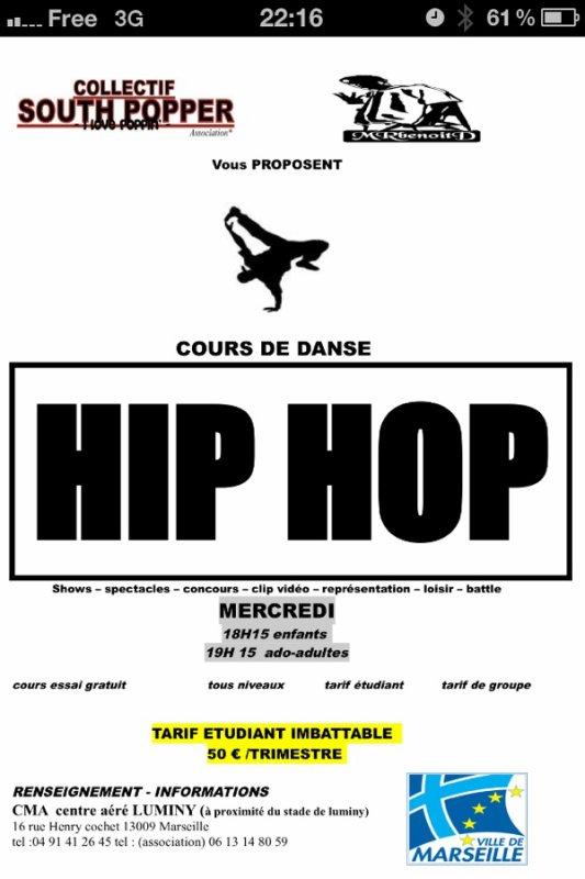 COURS DE DANSE HIP HOP LUMINY Marseille