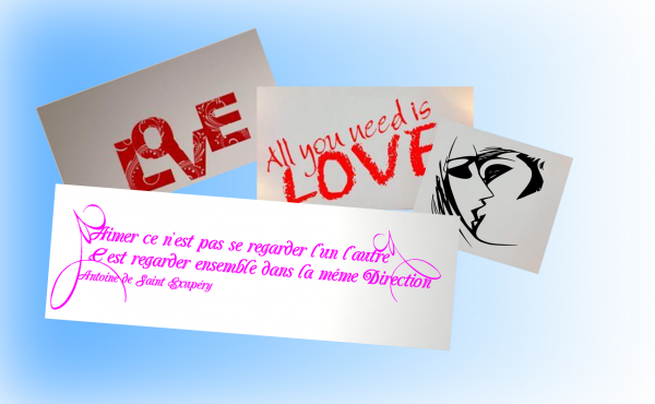 Voici quelques stickers sur le thème de l'amour, c'est bientôt la saint Valentin