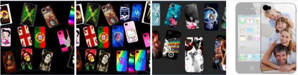 Quelques idées pour personnaliser les coques de smartphone (iphone 4/4S et 5, galaxy 2 et 3)