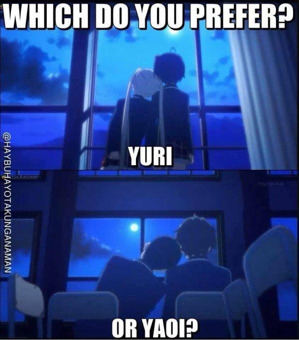 Plutôt Yuri ou Yaoi? ;)