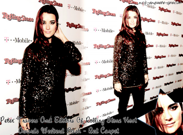 Cote de Pablo : Peter Travers And Editors Of Rolling Stone Host Awards Weekend Bash - Red Carpet - 26/02/2011
