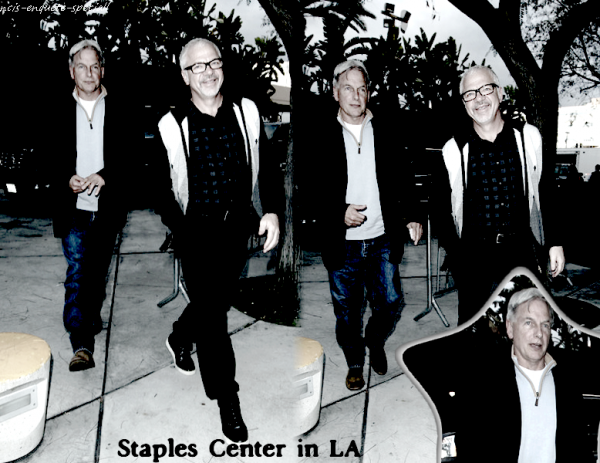 Mark Harmon : Staples Center In LA - 27/03/2011