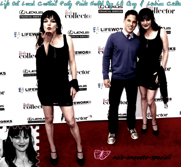 Pauley Perrette : Life Out Lound Cocktail Party Pride Hosted By LA Gay & Lesbian Center 11/06/2011