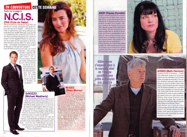 Articles de presse : Team, Pauley Perrette & Mark Harmon