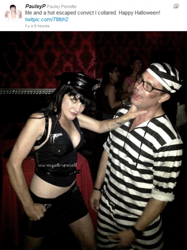 Pauley Perrette : Photo postée sur son Twitter - HALLOWEEN !